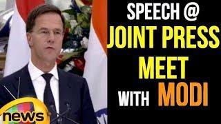 Netherlands PM Mark Rutte Speech at Joint Press Meet with PM Modi   International News   Mango Music - MANGONEWS