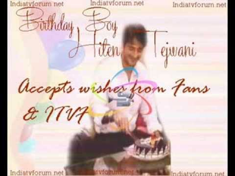 Birthday boy Hiten accepts wishes from fans-part 2