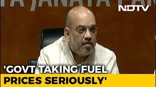 Solution To Rising Petrol, Diesel Prices In 3-4 Days, Says Amit Shah - NDTV