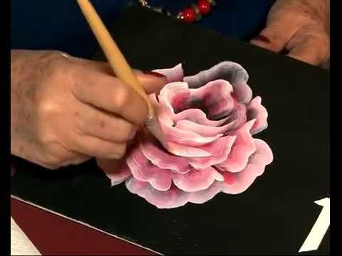 Como pintar una rosa - Hojas - Pinceladas - PIntura acrilica - Silvia Mongelos