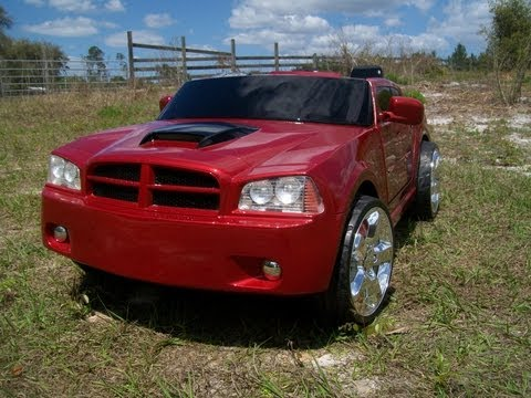 Vulgar Display Of Power Wheels Custom Inferno Red Pearl Dodge Charger