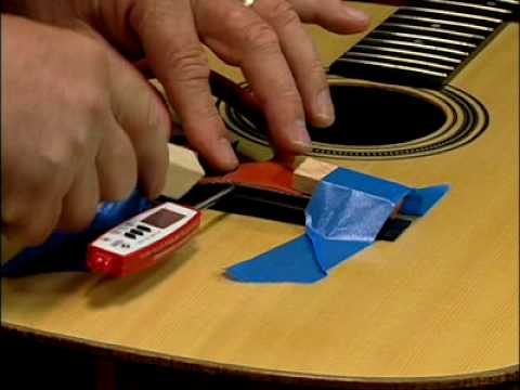Repairing the lifted guitar bridge video on DVD