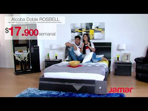 MUEBLES JAMAR ALCOBA DOBLE ROSBELL 2014