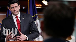 Ryan holds weekly news conference - WASHINGTONPOST