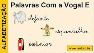 Alfabetização Infantil. Escrita, Imagem e Som de Palavras Iniciadas Com as Vogais a, e, i, o, u. view on youtube.com tube online.