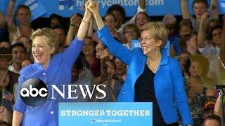 Clinton Hits Campaign Trail With Elizabeth Warren - ABCNEWS