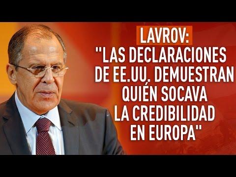 """""""Las declaraciones de EE.UU. demuestran quién socava la credibilidad en Europa"""""""