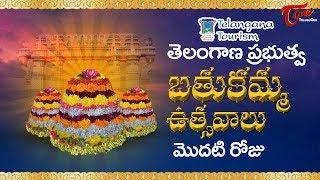 Bathukamma Sambaralu 2017 | Telangana Govt Bathukamma 1st Day Celebrations | Telangana Floral Festi - TELUGUONE