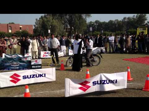Pak Suzuki Motorcycle play ride & win competition BZU University Multan