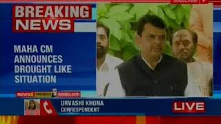 Maharashtra CM Devendra Fadnavis announces drought like situation in 180 talukas - NEWSXLIVE
