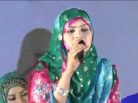 Naat recitation by Pakistani female naat khawan