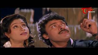 Chiranjeevi  Romance with Vijayashanthi || Best Romantic Scene of Tollywood #132 - TELUGUONE