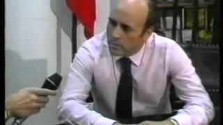 Sousa Cintra comunica a saida do treinador Manuel José em 1989/1990