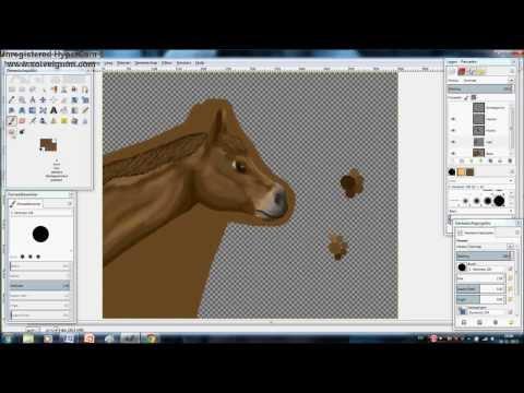 GIMP 2.8, paardenhoofd tekenen!