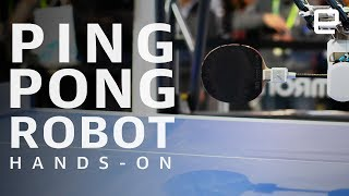 Omron Forpheus Hands-On at CES 2019: Ping-pong playing robot - ENGADGET