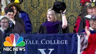 Hillary Clinton Sports Russian Hat During Yale Speech | NBC News - NBCNEWS
