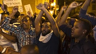 تظاهرات في إسرائيل ضد عنصرية الشرطة مع يهود من أصول إثيوبية