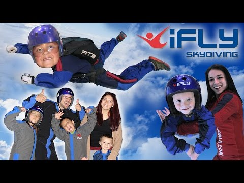 KIDS GO INDOOR SKYDIVING!! FUNnel Vision Competition @ iFly Dallas, TX (CHALLENGE? Who Flew Better?)