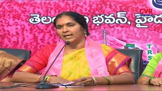 TRS Leader Padma Devender Reddy Slams Uttam Kumar Reddy Over Jagga Reddy Case | CVR NEWS - CVRNEWSOFFICIAL