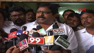 TDP leaders protest in front of Ongole Police Station | Traffic SI Hulchul | CVR News - CVRNEWSOFFICIAL