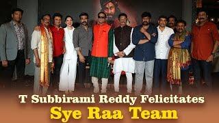 T Subbirami Reddy Felicitates Sye Raa Team | Chiranjeevi, Tamannaah, Ram Charan, Surender Reddy - TFPC