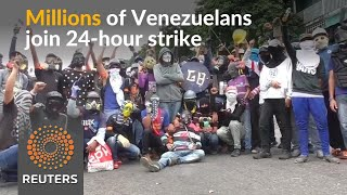 Millions in Venezuela join strike against Maduro - REUTERSVIDEO