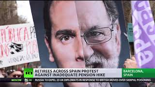 Thousands of Spanish retirees protest for a decent pension - RUSSIATODAY