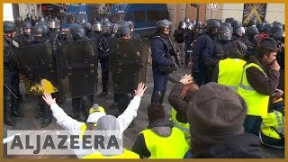 🇫🇷French police fire tear gas at protesters in central Paris | Al Jazeera English - ALJAZEERAENGLISH