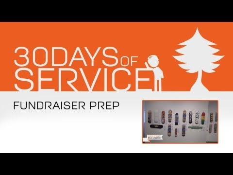 30 Days of Service by Brad Jamison: Day 27 - Fundraiser Prep
