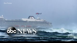 A cruise ship issued a mayday during rough seas off the coast of Norway - ABCNEWS
