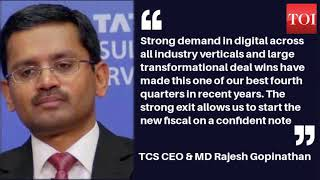 TCS fourth quarter (Q4) results:  Net profit up 4.57% - TIMESOFINDIACHANNEL