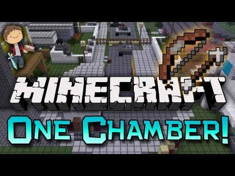 Minecraft: One in the Chamber Bow n' Arrow Mini-Game w/Mitch & Jerome