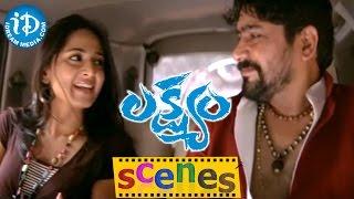 Lakshyam Movie Scenes || Yashpal Sharma, Anushka Bike Accident Scene - IDREAMMOVIES