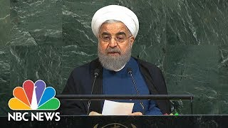 Iranian Leader Takes Aim At 'Rogue Newcomer' President Donald Trump In U.N. Address | NBC News - NBCNEWS