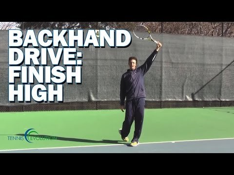 ONE HAND BACKHAND TECHNIQUE | One Hand Backhand High Drive Finish Technique