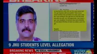 JNU professor booked for sexually assaulting 9 college girls; accused says they were bunking class - NEWSXLIVE