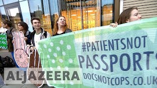 UK makes checking hospital patients' immigration status mandatory - ALJAZEERAENGLISH