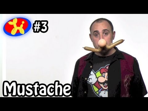 One Balloon Mustache - Balloon Animal Lessons #3