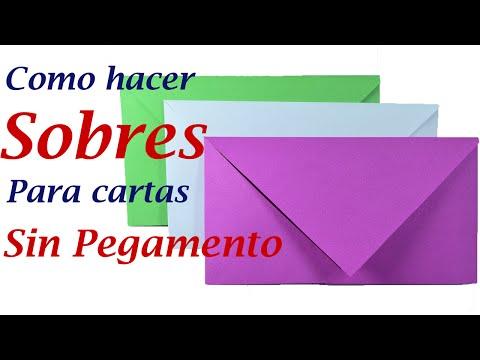 Como hacer un sobre para cartas sin pegamento