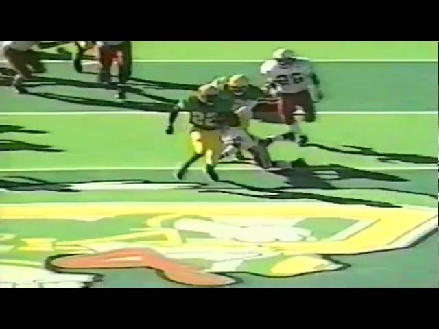 Oregon RB Reuben Droughns 67 yard touchdown run vs. Stanford 9-26-1998