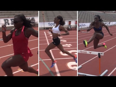 Workout Wednesday: The Bailey Bunch | Courtney Okolo, Ashley Spencer, Morolake Akinosun