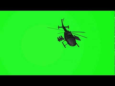 Free Helicopter 3D animation on green screen