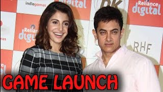 Aamir Khan and Anushka Sharma at PK Movie GAME LAUNCH event | PK Movie - ZOOMDEKHO