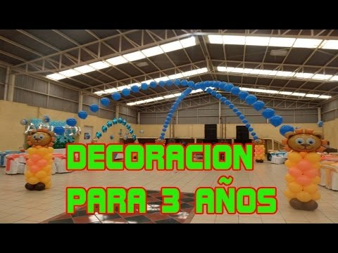 DECORACION 3 AÑOS GLOBOS CHASTY