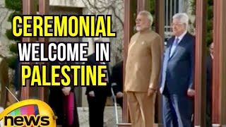 Ceremonial Welcome And Guard of Honour For PM Modi in Palestine | Mango News - MANGONEWS
