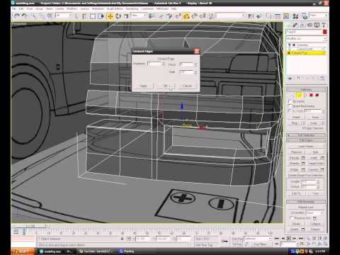 Modeling a car in 3ds max - Episode 5 - Front Bumper