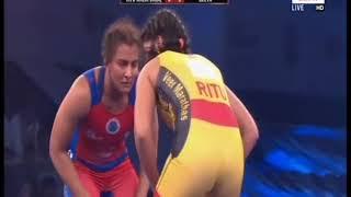 PWL 3 Day 11: Ritu Malik Dalal Vs Geeta Phogat at Pro Wrestling League 2018 | Full Match - ITVNEWSINDIA