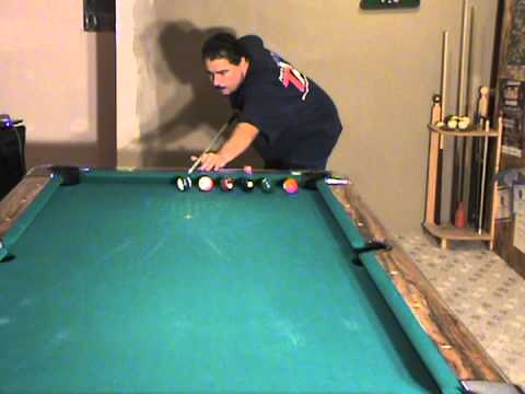 Pool Billiards Lessons. Pool School. Shoot balls straight in is a good beginner practice drill.