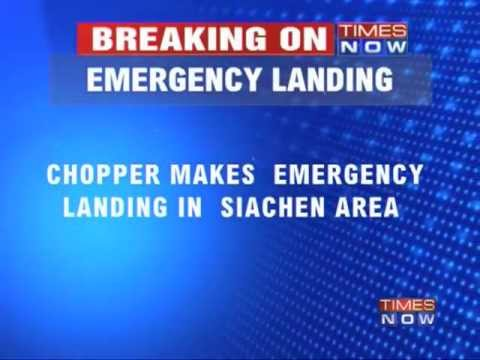 Army chopper crashes at Siachen Glacier