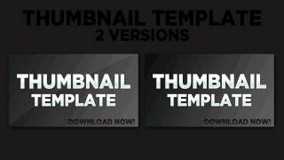 Thumbnail Template PSD w/Download - YouTube